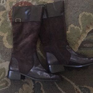 Coldwater Creek Brown Suede Boots Size 9